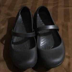 Crocs Black Ballet Flats 🥿 Slip Resistance EUC